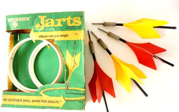77b28a25 Vintage Jarts Original Lawn Dart Game by Regent - Retro Game Room Decor,  conversation piece