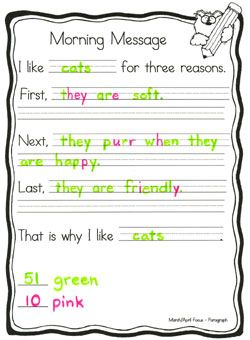 Mrs  Nelson's Class - Morning Message Ideas and Printables  {Such a