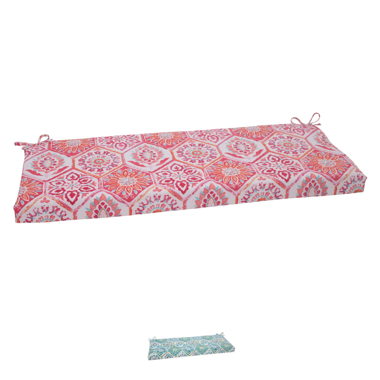 Pillow Perfect 'Summer Breeze' Outdoor Bench Cushion (Blue ...