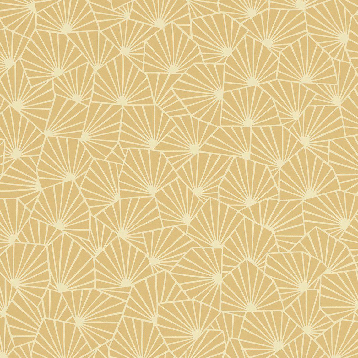 Papier Peint Jaune Moutarde papier peint roxane 100% intissé motif graphique mat, jaune