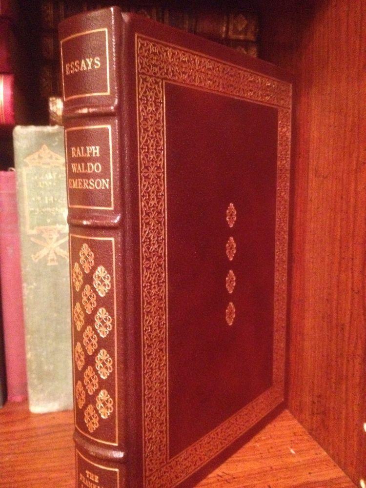 essays ralph waldo emerson franklin library full leather  essays ralph waldo emerson franklin library full leather 100 greatest books gilt