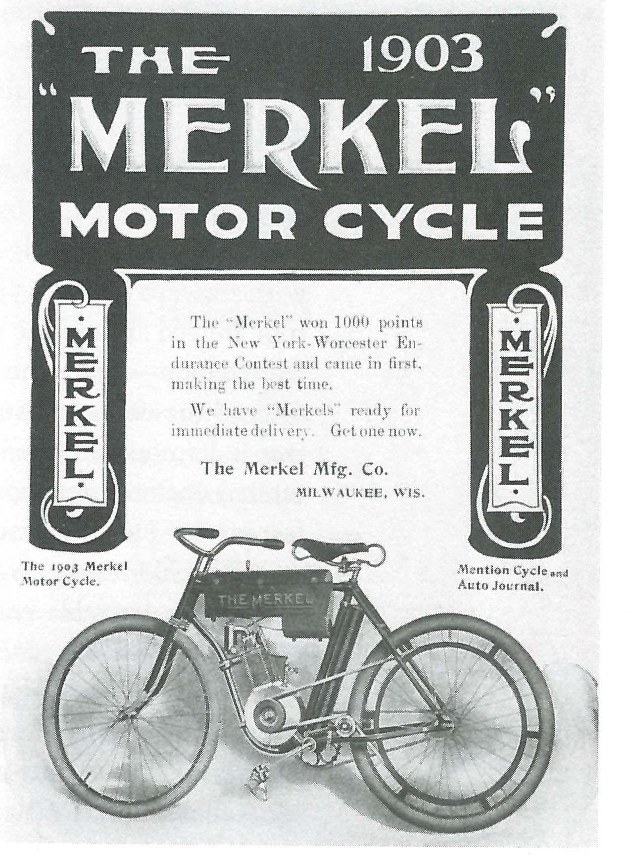 1903 Merkel advert with looped frame that HD copied | Merkel\'s ...