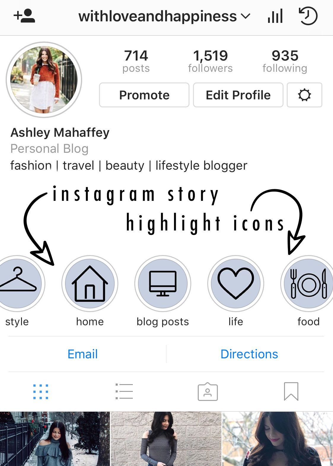 instagram story highlight icons - blue - ready to download