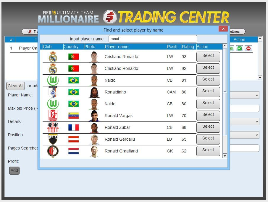 FIFA 19 Autobuyer and Autobidder OFFICIAL SITE - FUTMillionaire Trading  Center — FIFA 19 Autobuyer and Autobidder - Ultimate Team Millionaire  Trading Center ...