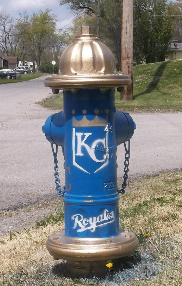 Go Royals! Fire Hydrant on East Second St.