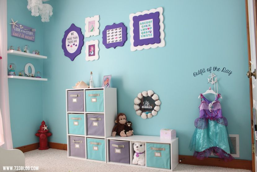 Little Girls Mermaid Themed Room
