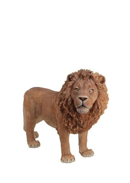 This lion garden statue is a beautiful replica of the majestic animal. Painted…