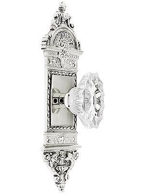 European Door Set With Fluted Oval Crystal Glass Knobs | Door sets ...