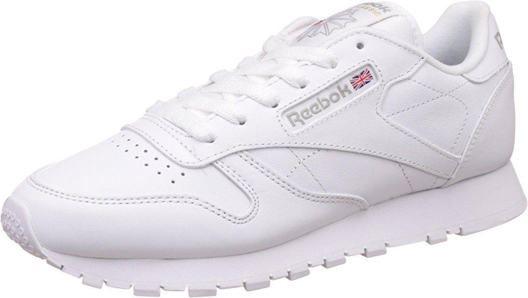 cantidad Nacional Comprometido  Reebok Classic Leather Zapatillas, Mujer, Blanco, 38 EU / 5 UK / 7.5 US:  Amazon.es: Zap…   Zapatillas de deporte de cuero, Zapatillas casual, Diseño  de zapatos nike