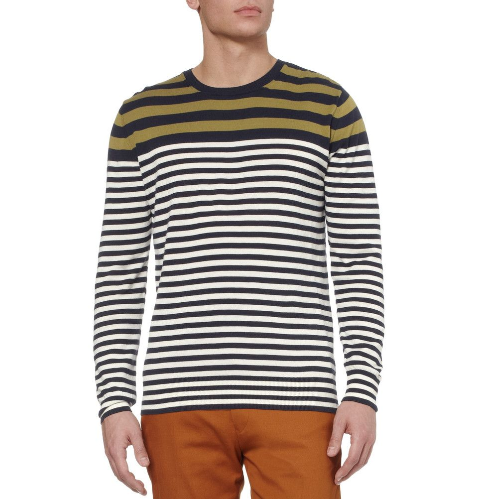 striped cotton sweater | PS by Paul Smith | fashion: men spring ...