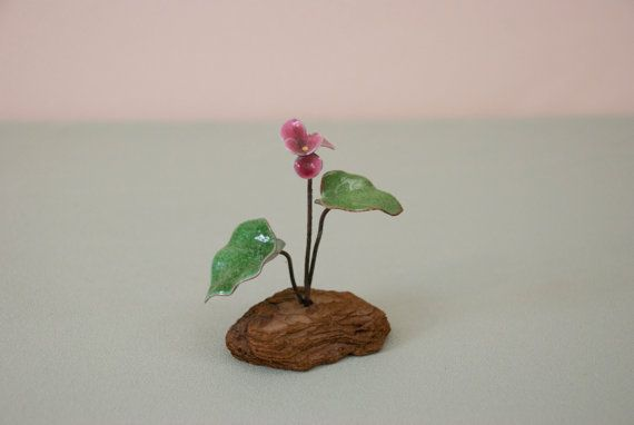 Miniature Bovano Enamel Violet Flower by ThrowbackArtifacts, $12.00