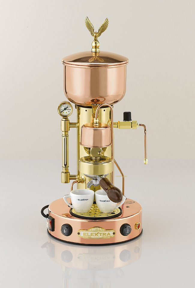 copper:espresso machine - I m not sure I d want to have to do all the polishing, but it is ...