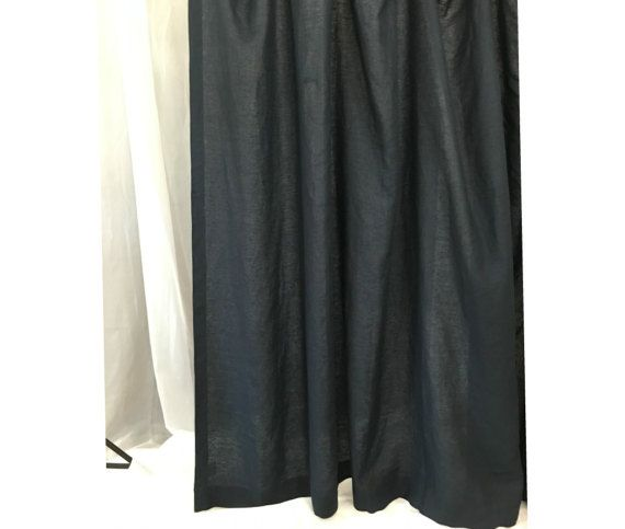 Black Linen Shower Curtain