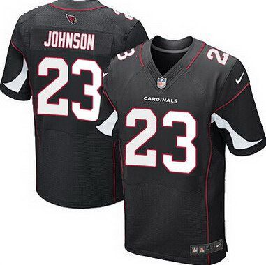 4147b91f2 Arizona Cardinals  23 Chris Johnson Black Alternate NFL Nike Elite Men s  Jersey