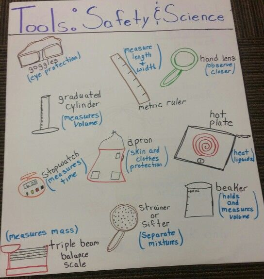 Safety And Science Tools Anchor Chart Science Tools Anchor Chart Science Tools Science Anchor Charts Science tools worksheet 4th grade