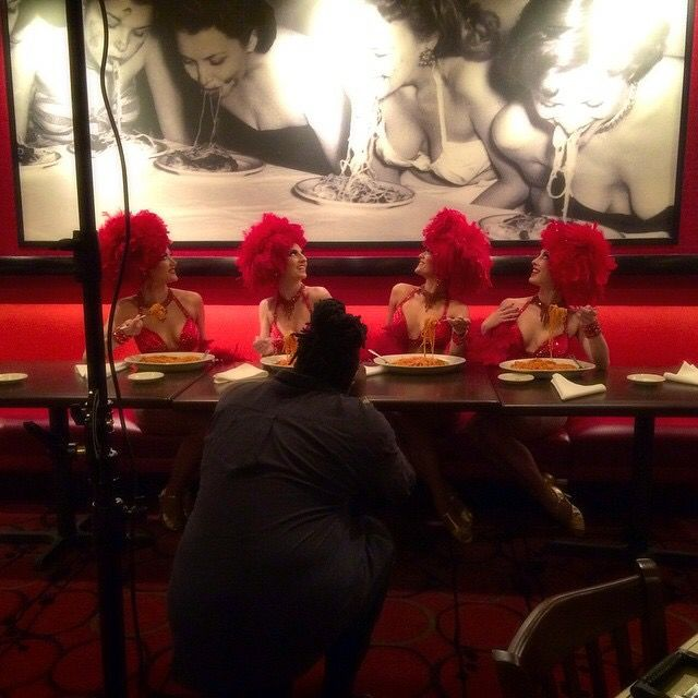 Bally's showgirrrrrllllls at Buca Cafe Italiano