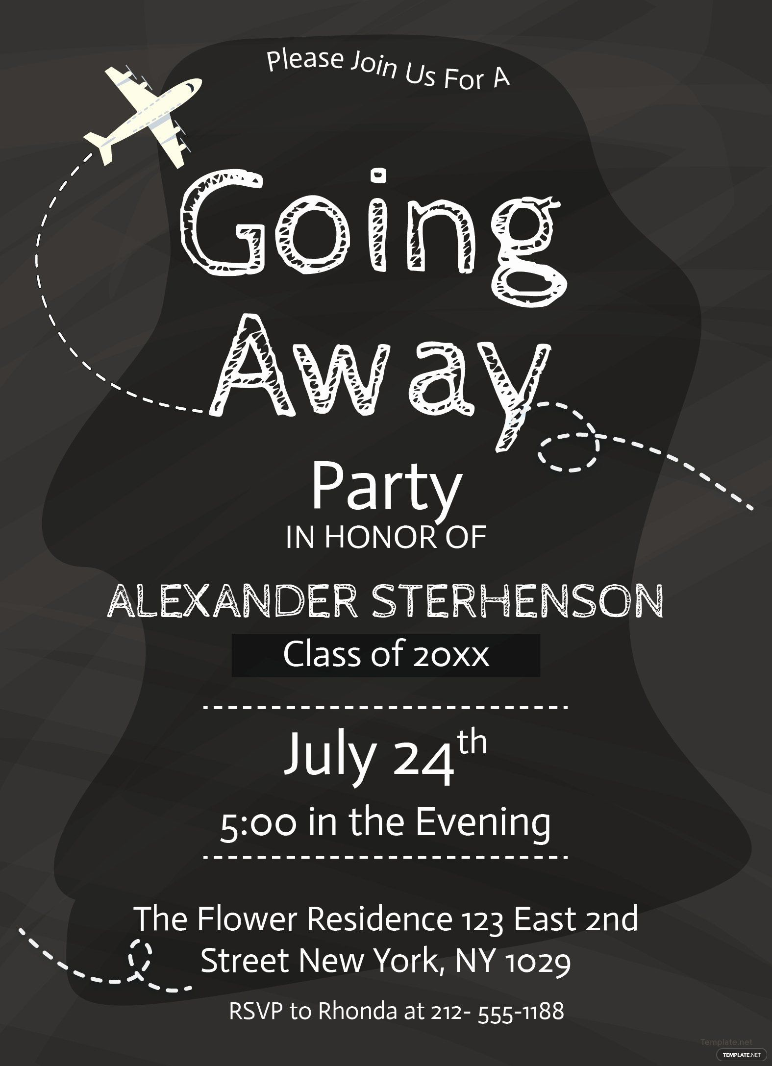 Going Away Party Invitation Template Luxury Free Printable Going