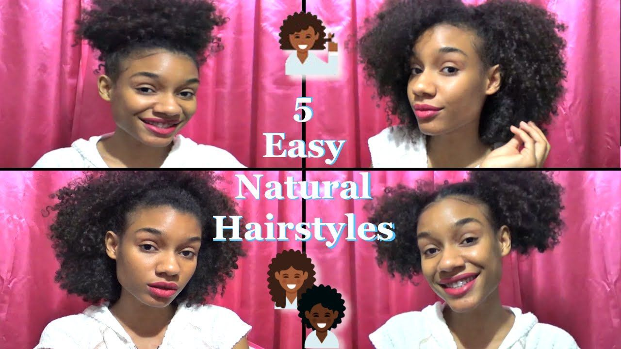 easy natural hairstyles natural hairstyles pinterest easy