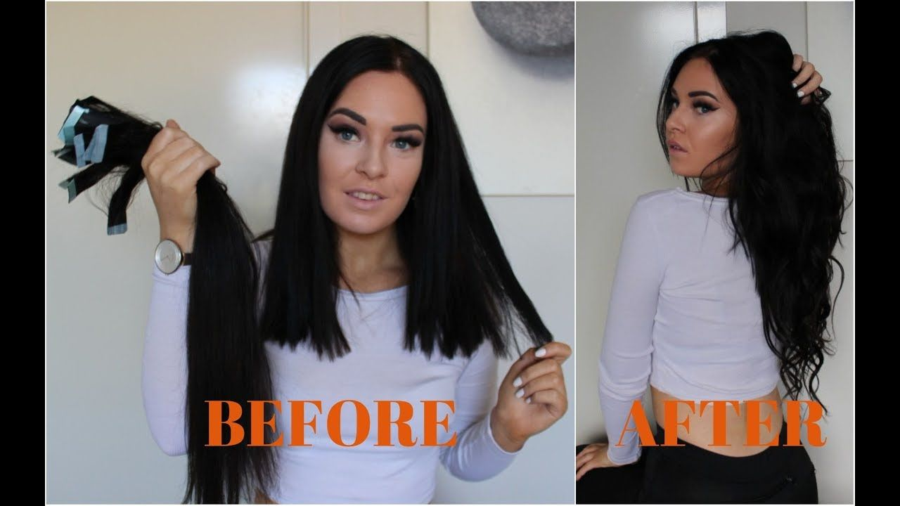 How i do my tape hair extension at home save your money