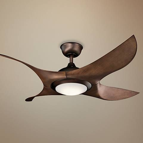 52 kichler shuriken led oil brushed bronze ceiling fan 7k352 52 kichler shuriken led oil brushed bronze ceiling fan 7k352 lamps plus aloadofball Choice Image