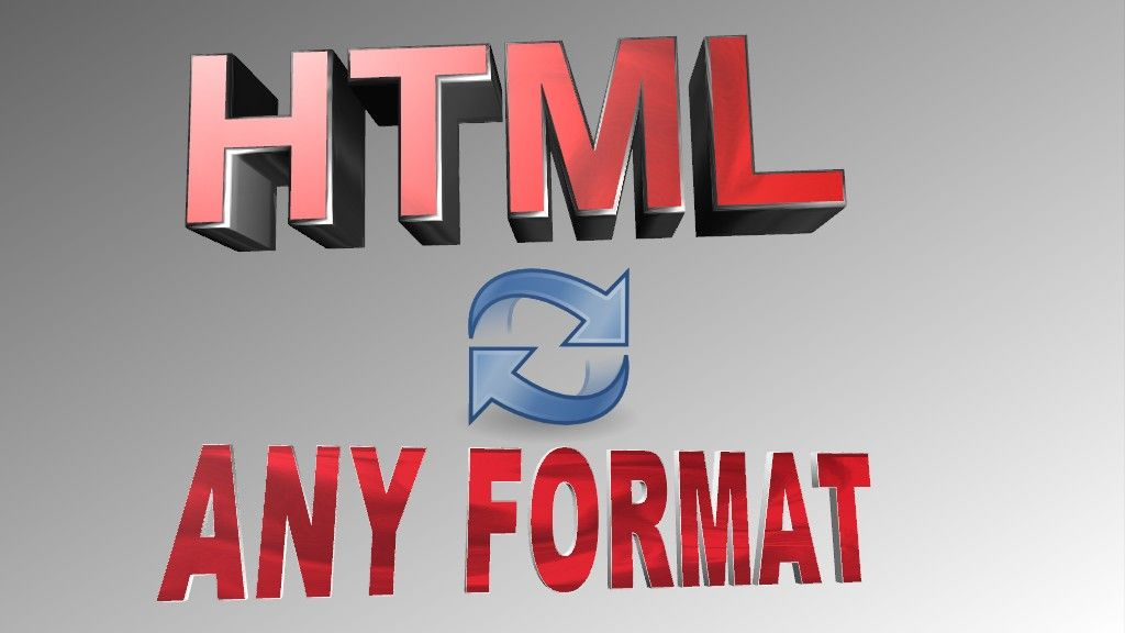 zarko123: convert HTML to any format for $5, on fiverr.com