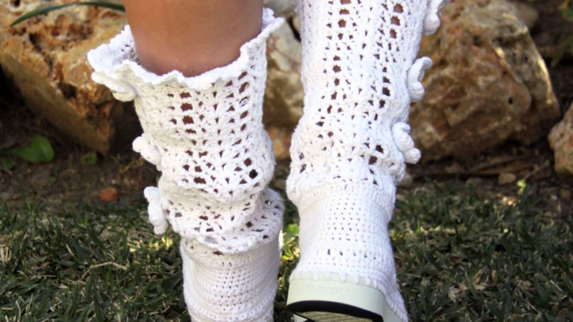 Botas de Crochet Mujer Joven Niñas   zapatos   Pinterest   Botas de ...