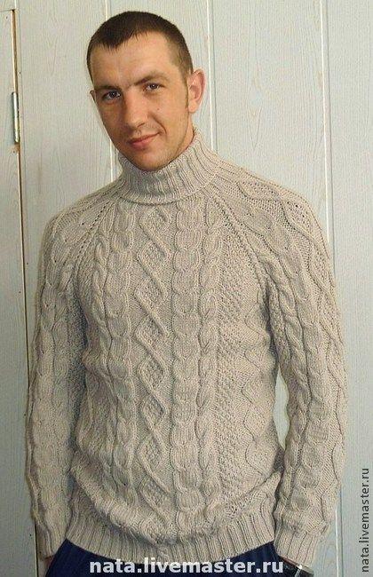 """Свитер мужской""""Уют"""" ручная работа - серый,свитер,свитер вязаный,свитер теплый"""