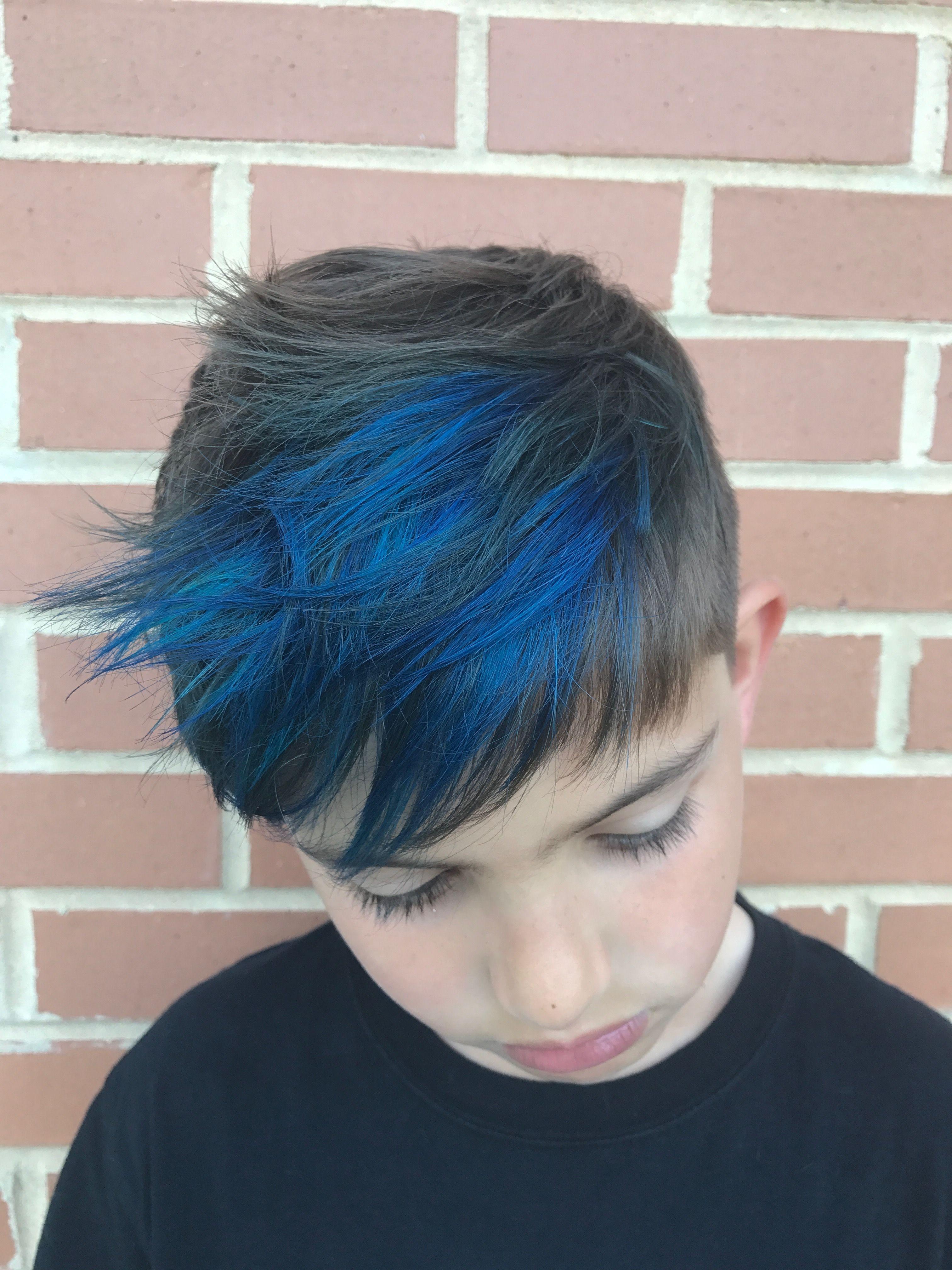 Blue Hair Dye On Boys