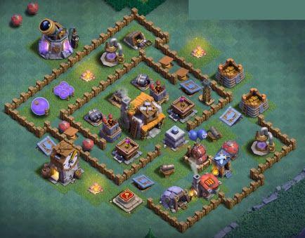 Clash Of Clans Builder Hall 5 Base Layout Constructora Arquitectura Minecraft Minecraft