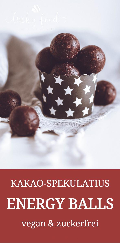 süßer Snack | Kakao Spekulatius Energy Balls Rezept | vegan und zuckerfrei