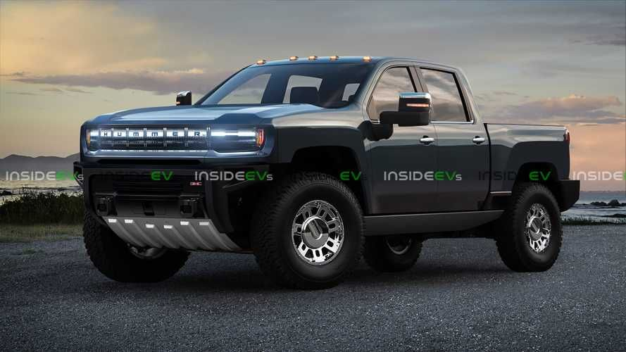 Hummer Electric Pickup Truck Rendered Into View With Gmc Styling