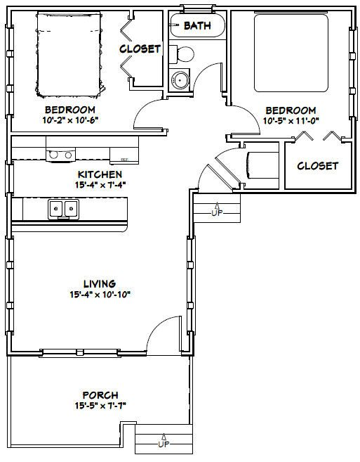 16x30 house 16x30h1j 705 sq ft excellent floor for 16x30 house plans