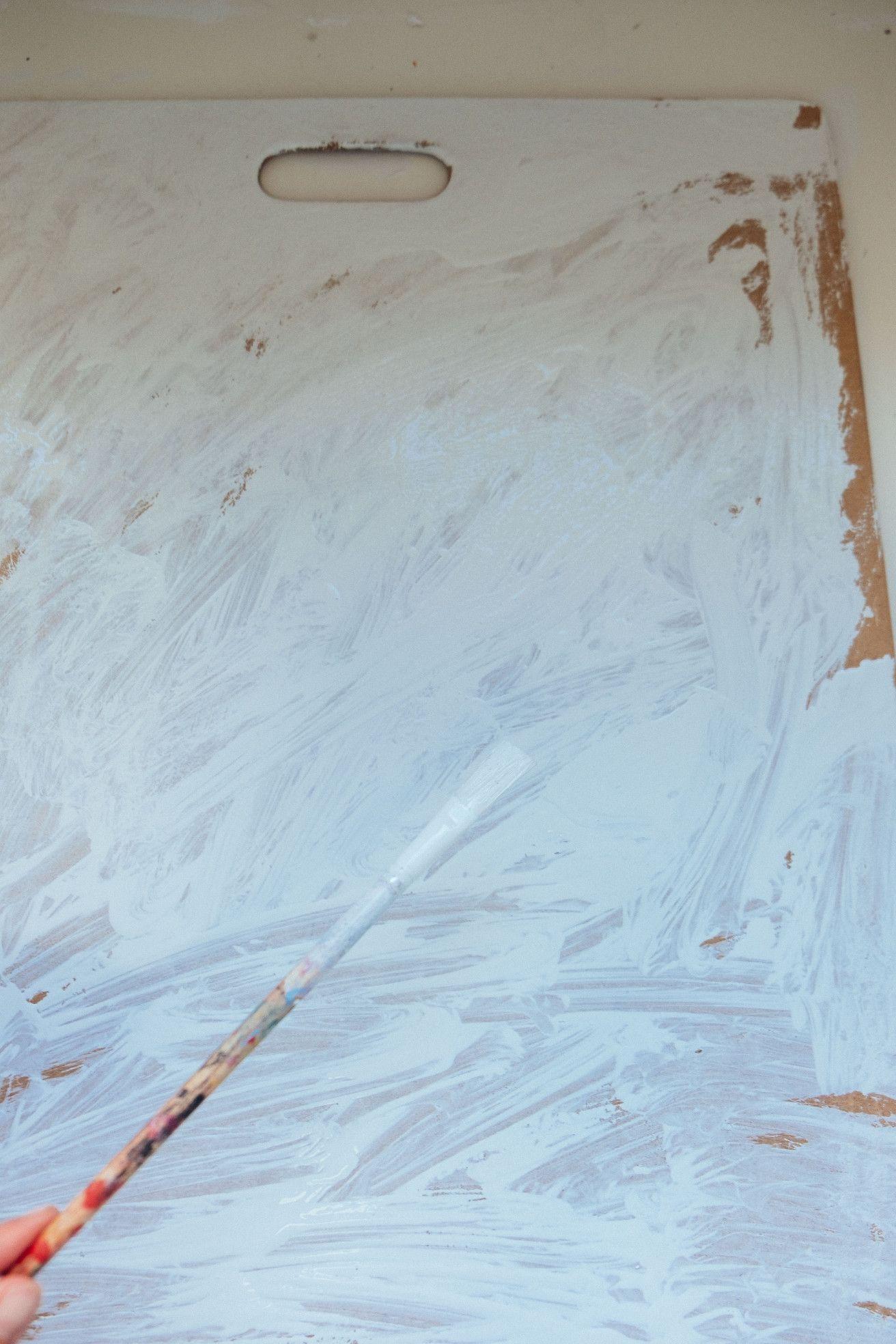 achtergrond wit verven - painting- backdrop zelf maken met kant