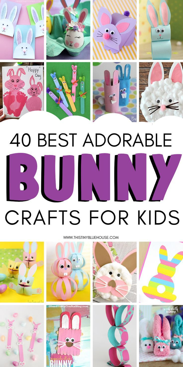 40 Adorable Easter Bunny Crafts For Kids