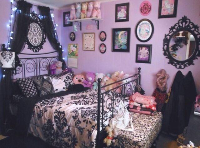 Emo Tumblr Bedroom Goth Home Decor Gothic Room Kawaii Room
