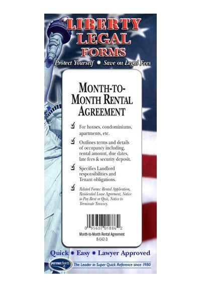 Month-to-Month Rental Agreement Legal Forms Kit - USA - month to month lease agreement