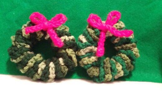 Chrocheted wreaths.