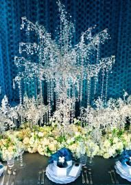 Crystal Tree Centerpiece From The Wedding Belle S Tabletop Design
