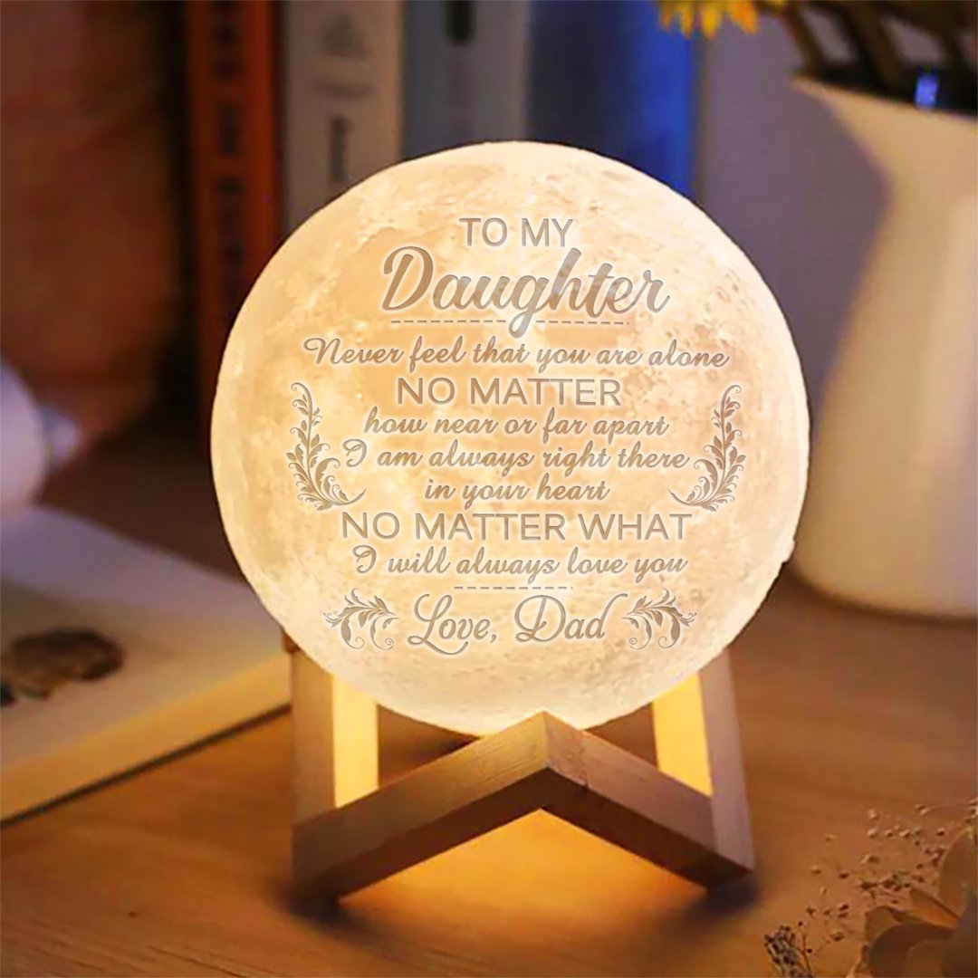 Dad To Daughter I Will Always Love You Moon Lamp Diy Gifts For Mom Diy Gifts For Kids Gifts For Family