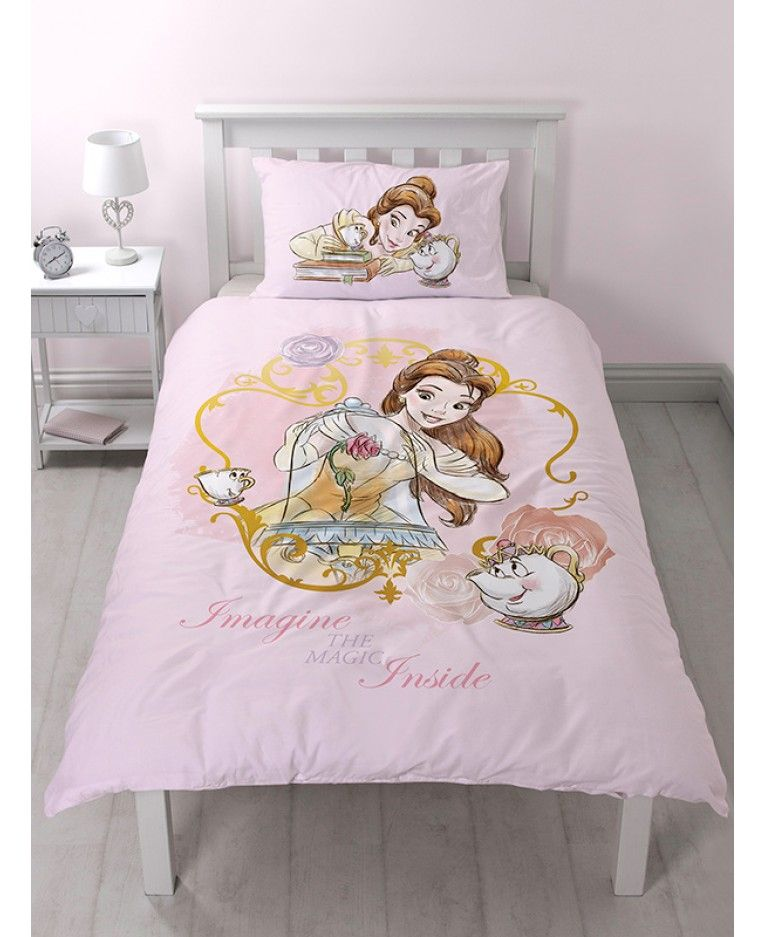 This Official Disney Princess Belle Imagine Single Duvet Cover And Pillowcase Set Is Reversible And Features Single Duvet Cover Single Duvet Duvet Bedding Sets