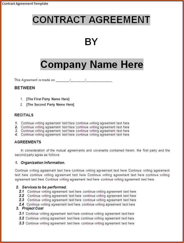contract agreement template templateg letter cancellation business - business contract agreement