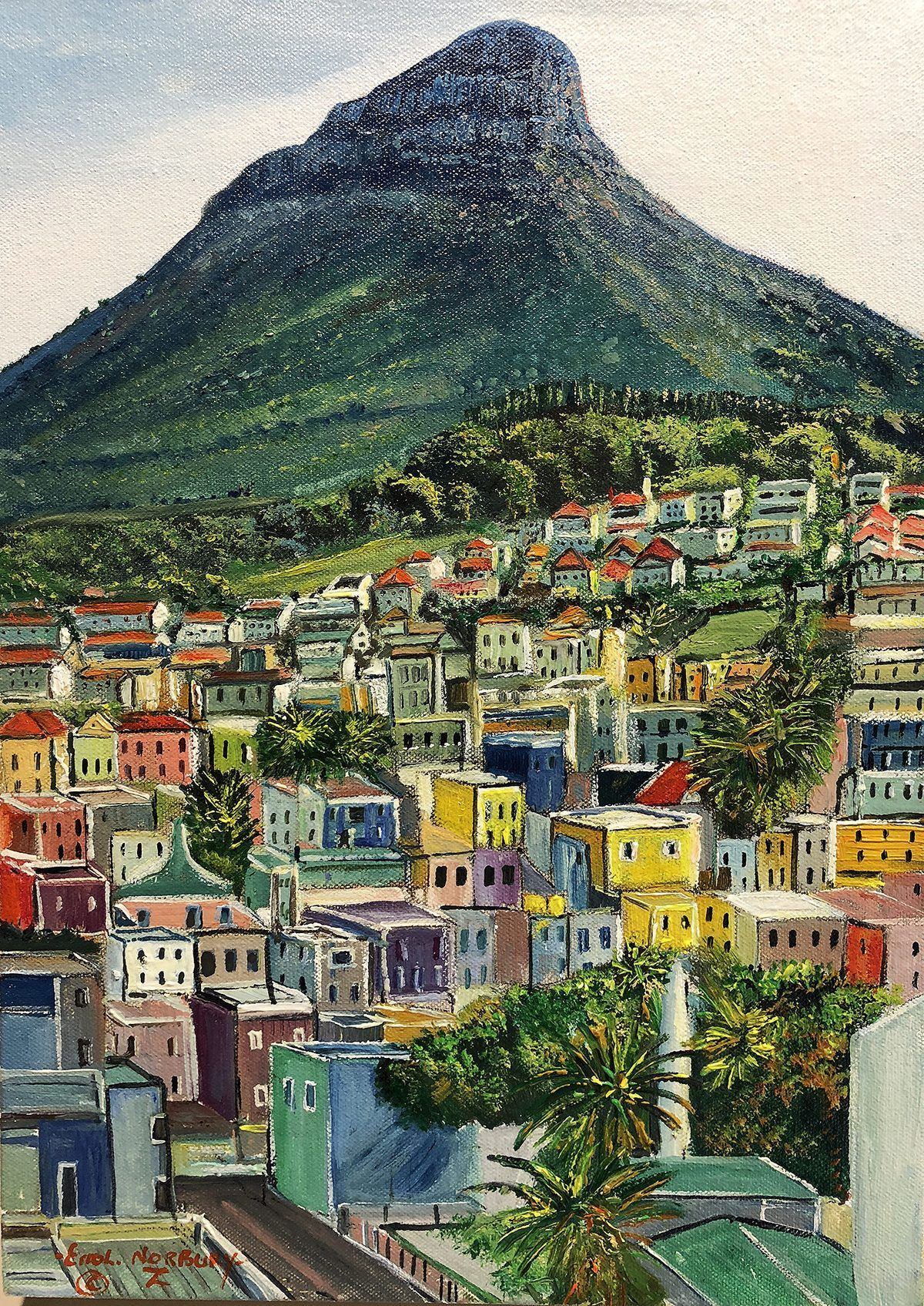 Bo kaap paintings cape town cityscapes south african