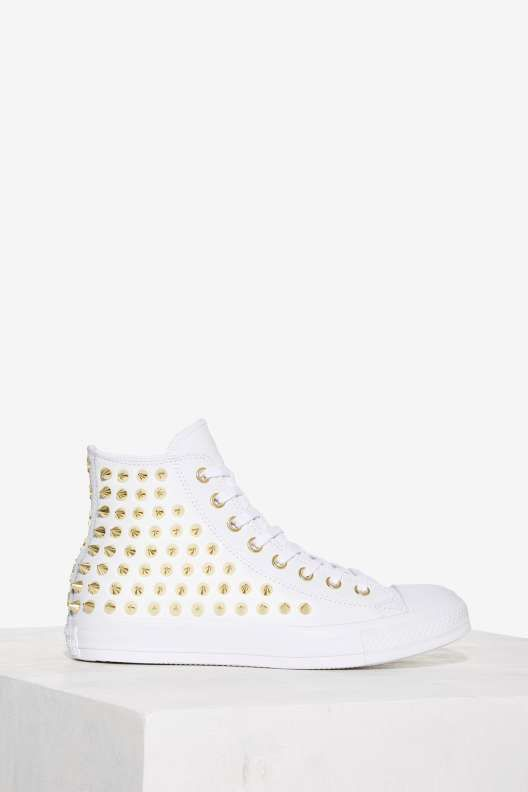 dc4d0bedfa Converse All Star Studded Leather Sneaker - White - What s New ...