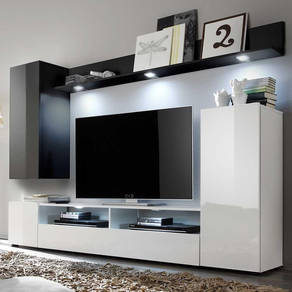 Wohnwand mit tv paneel - Italienische wohnwande ...