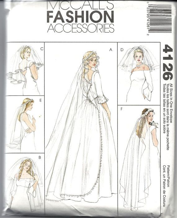Bridal Veil Pattern New McCalls 4126 6 Lovely By TLCsTreasures