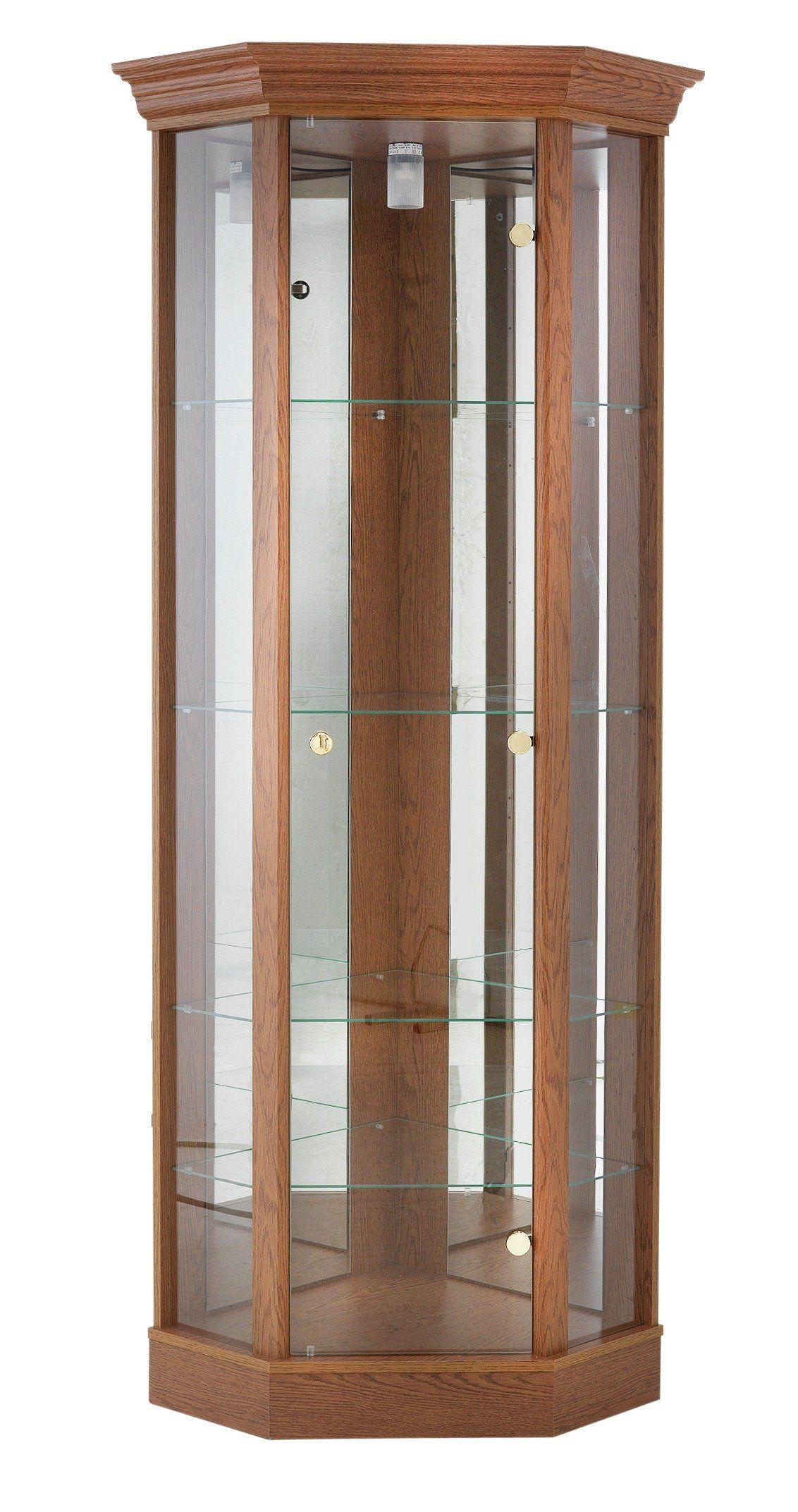 Argos Uk Home Single Door Corner Glass Display Cabinet Dark Oak Eff This Traditional Is Great Argosuk