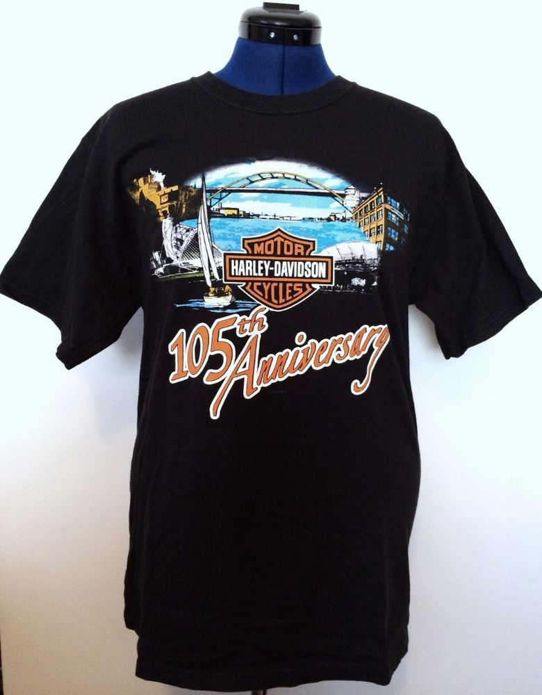 f07331bf8ee House of Harley Davidson Mens Tee Shirt M 38-40 105th Anniversary Milwaukee  USA  HarleyDavidson  GraphicTee