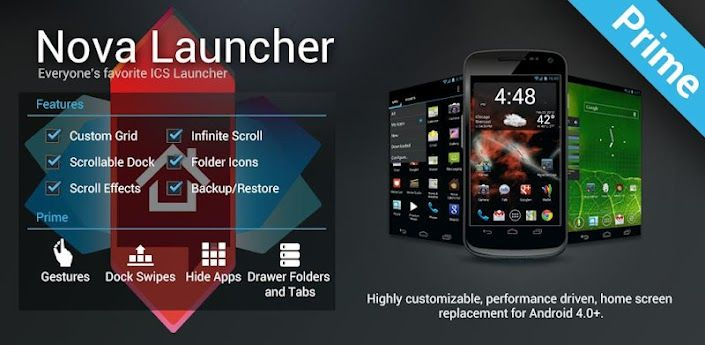 Nova Launcher Prime 33 Apk File Free Download For Your Android
