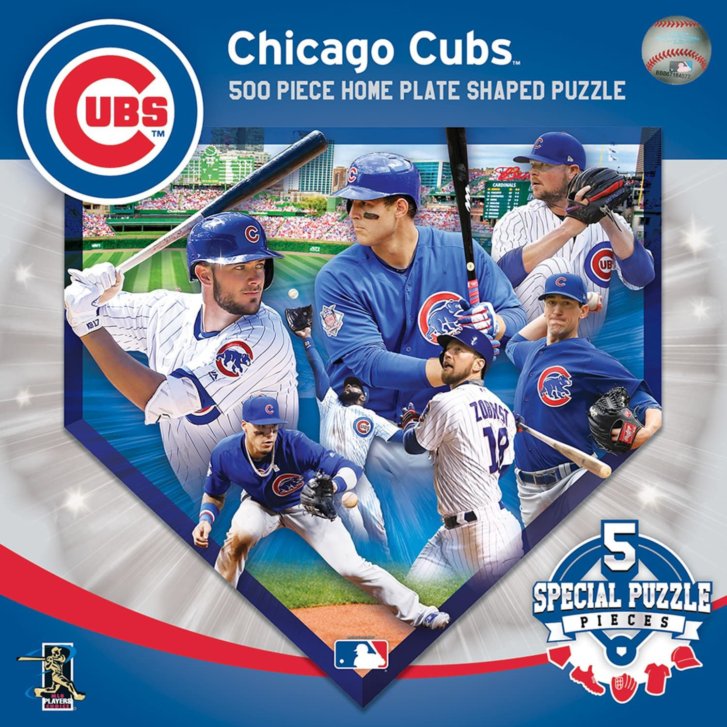 Chicago Cubs Mlb Home Plate Shaped Puzzle Mlb Affiliate Cubs Chicago Home Mlb Chicago Cubs Chicago Cubs Print Chicago Cubs