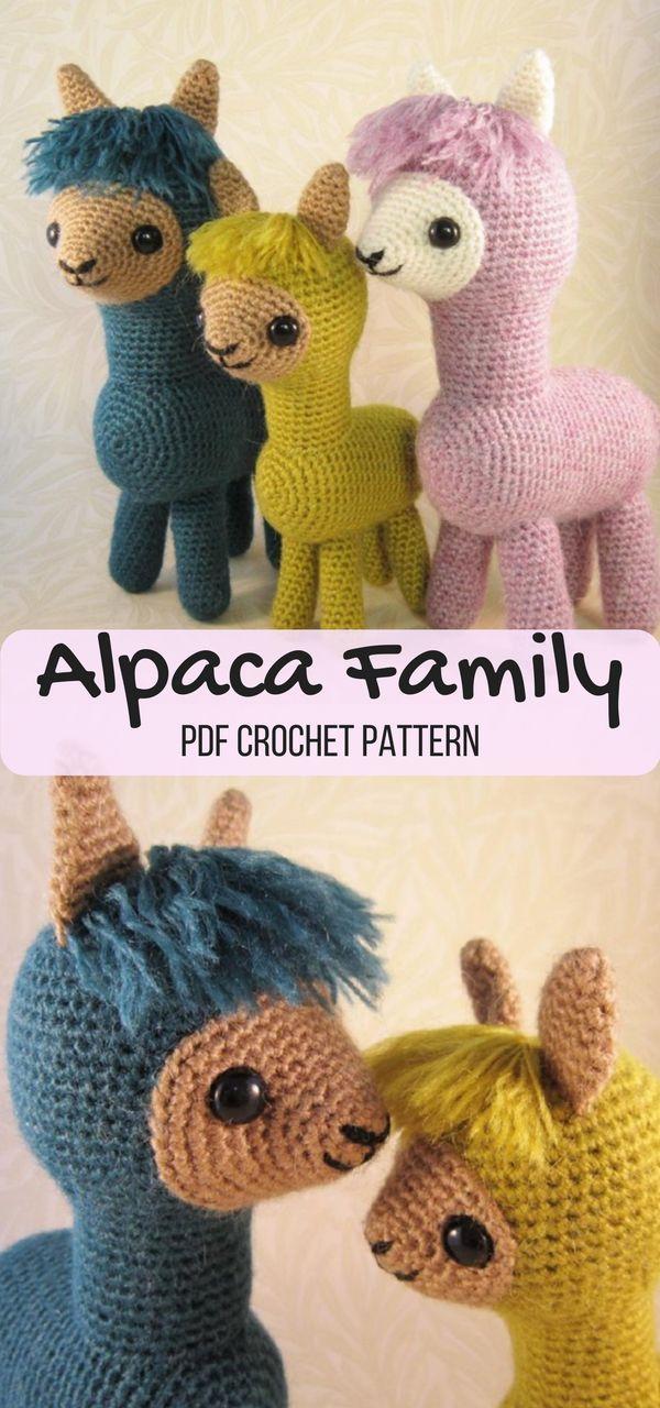 Alpaca Family Amigurumi | Alpacas, Amigurumi patterns and Yarns